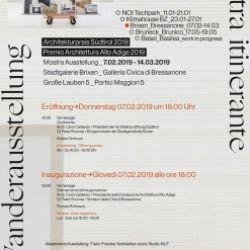 Mostra itinerante Premio Architettura Alto Adige