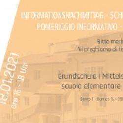 Pomeriggio informativo - la nostra scuola