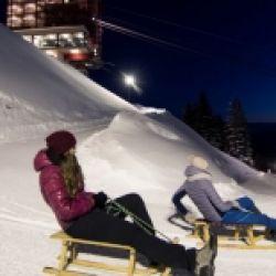 In slitta by night & Skishow a Merano 2000