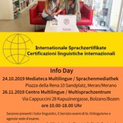 Info Day - Certificati linguistiche internazionali
