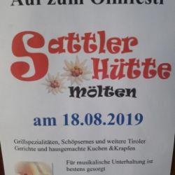 Festa sulla malga Sattlerhütte