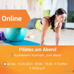 Onlinekurs: Pilates am Abend