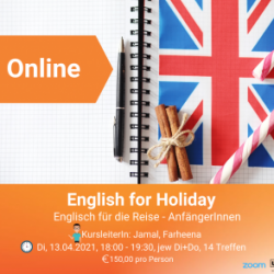 Online-Kurs: A1.1 English for holidays