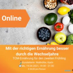 Online-Kurs: TCM-Ernährung für den zweiten Frühling