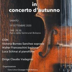 Concerto d'autunno, dove la musica accarezza l'anina
