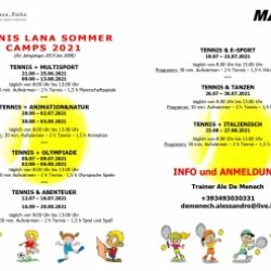 TENNIS LANA SUMMER CAMPS 2021