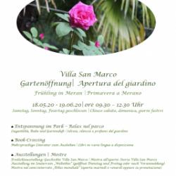 Apertura del giardino di Villa San Marco al pubblico