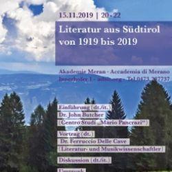 Literatur aus Südtirol von 1919 bis 2019