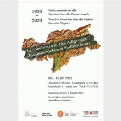 1920-2020 La convivenza in Alto Adige oggi