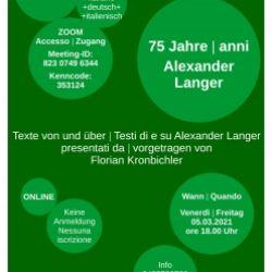 75 anni Alexander Langer