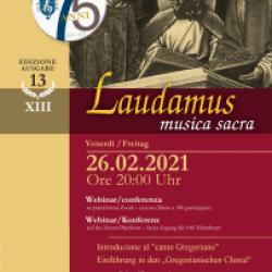 XIII LAUDAMUS - Webinar/conferenza