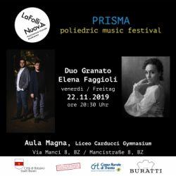 PRISMA: PoliedricMusicFestival - Duo Granato&Elena Faggioli