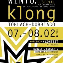 Winto.klong – Euregio Festival dei cantautori
